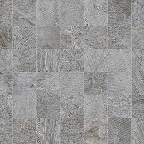 Rodano Collection by Porcelanosa Mosaic Tile 12x35 Silver