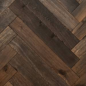 Herringbone Reserve Collection by Provenza Floors Engineered Hardwood 3.5 in. Oak - Autumn Wheat