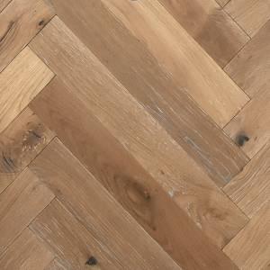 Herringbone Reserve Collection by Provenza Floors Engineered Hardwood 3.5 in. Oak - Sienna Sand