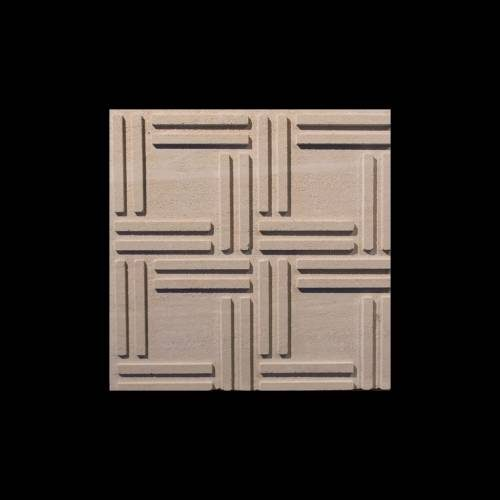 Alesio 3D Collection by Realstone Systems Limestone Tile 24x24 Beige Quadro