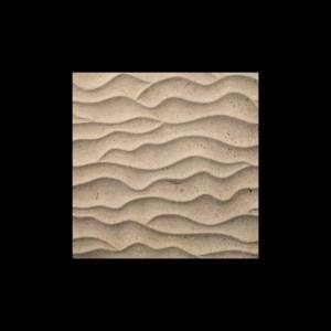 Alesio 3D Collection by Realstone Systems Marble Tile 24x24 Smoky Beige Sahara