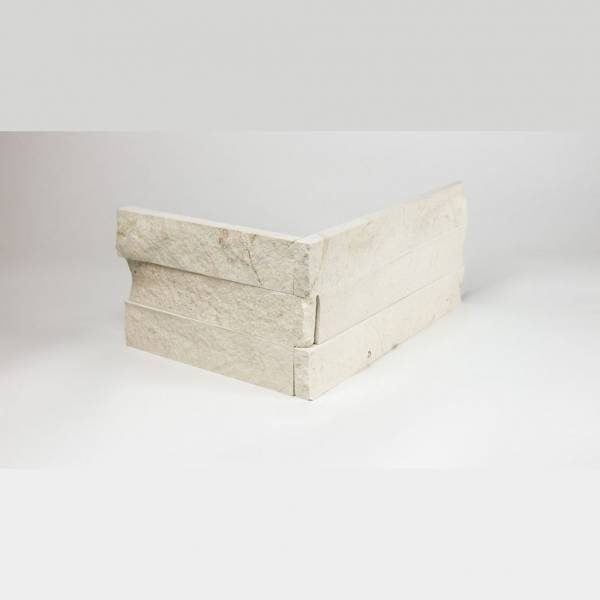 Creme Ledgestone Corner 6x16 and 6x8