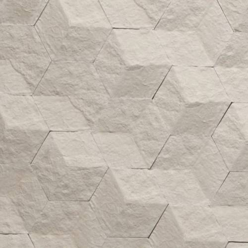 Hive Collection by Realstone Systems Stone Tile 9.5x8.2 Chiseled Cream