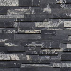 Realstone Collection by Realstone Systems Ledger Panel 6x24 Nero Honed