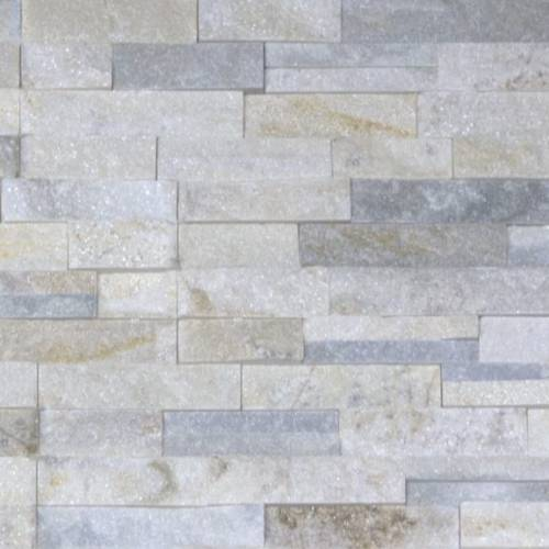 Shadowstone Collection by Realstone Systems Ledger Panel 6x24 Silver Alabaster