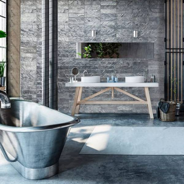 Gunmetal Bathroom