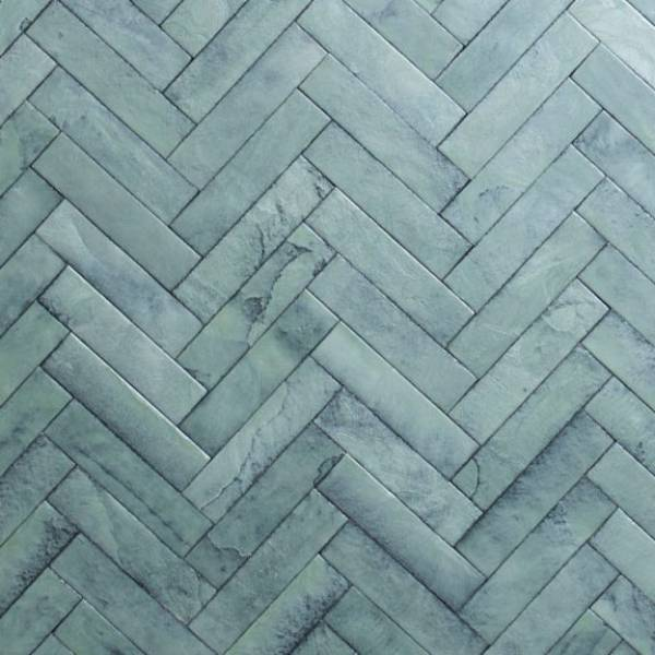Sea Foam Herringbone