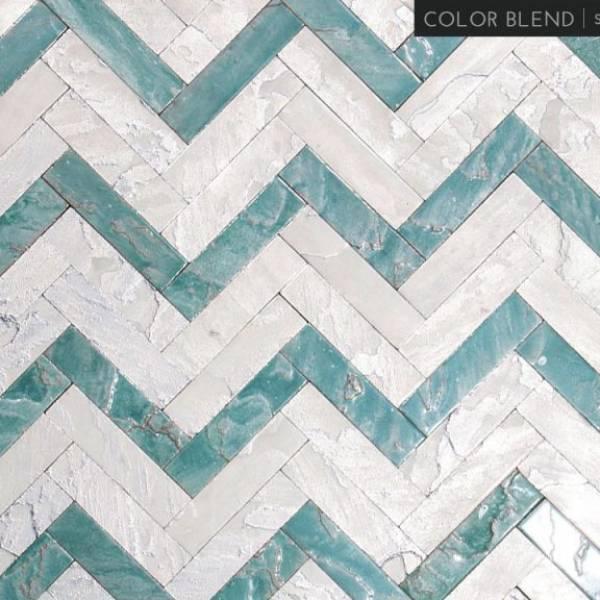 2 Mix - Stardust / Marine Herringbone