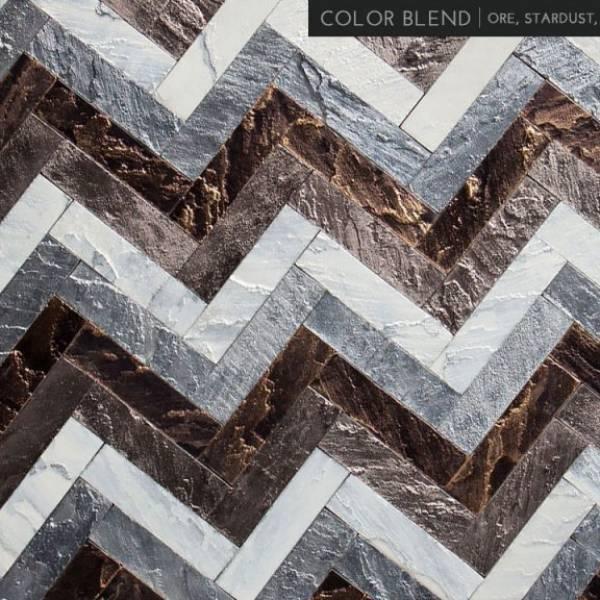 4 Mix - Stardust / Ore / Gunmetal / Pyrite Herringbone