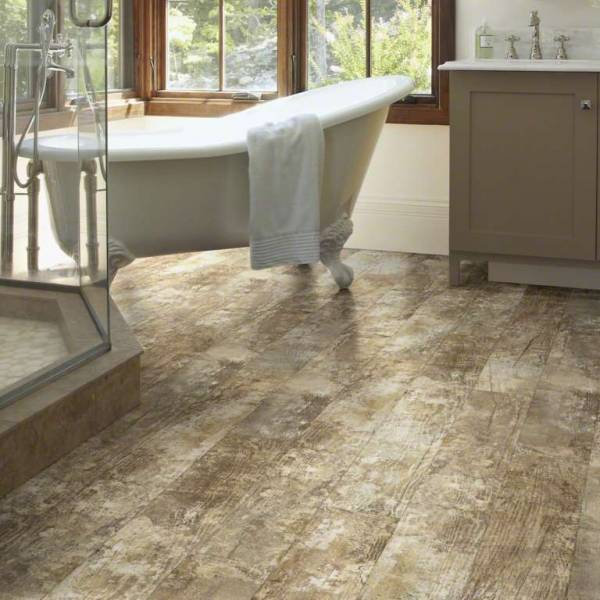 Installing Hardwood Flooring In Bathroom: SHAW Premio LVT Floor