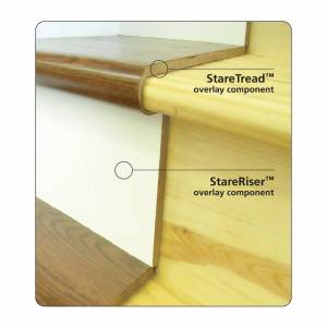StareRiser by StareCasing White Oak White Finish 48""
