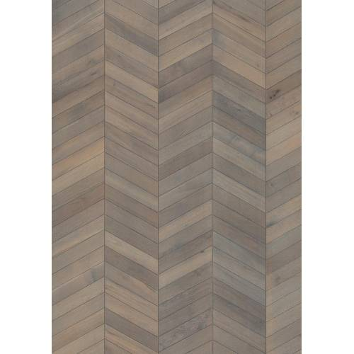 ID Chevron Collection by Kährs Engineered Hardwood 12 in. White Oak - Grey