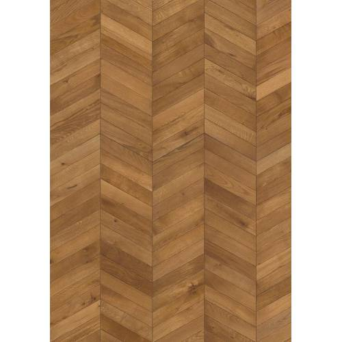 ID Chevron Collection by Kährs Engineered Hardwood 12 in. White Oak - Light Brown