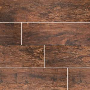 Redwood Mahogany Wood Look Tile - 6x24