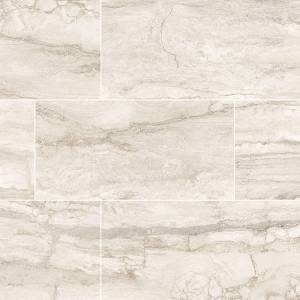 Pietra Bernini Bianco Collection by MSI Porcelain Tile 12x24 in. Polished