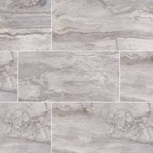 Pietra Bernini Carbone Collection by MSI Porcelain Tile 12x24 in. Polished