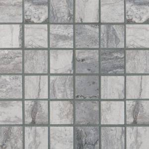 Pietra Bernini Carbone Collection by MSI Porcelain Tile Mosaic 2x2 in. Matte
