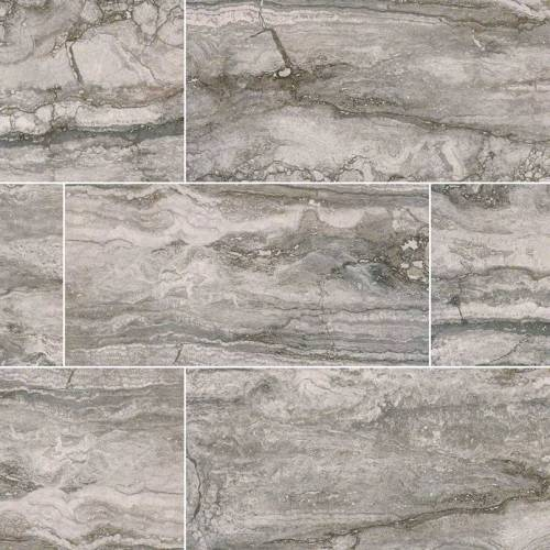 Pietra Bernini Carbone Collection by MSI Porcelain Tile 12x24 in. Matte