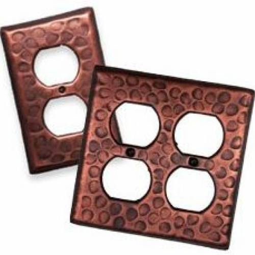 SANTA FE COPPER OUTLET SWITCH PLATES (2 SIZES)