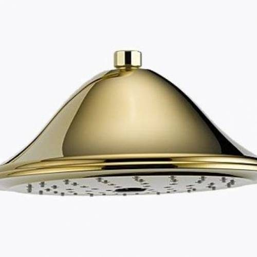 BRIZO PROVIDENCE BELLE TOUCH-CLEAN RAINCAN SHOWERHEAD - Brilliance Brass