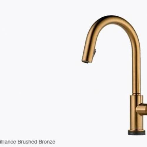 BRIZO SOLNA SINGLE HANDLE PULL DOWN KIT. FAUCET W/ SMARTTOUCH -Brilliance Brushed Bronze
