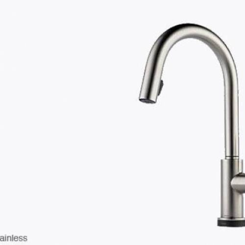 BRIZO SOLNA SINGLE HANDLE PULL DOWN KITCHEN FAUCET WITH SMARTTOUCH - Stainless Steel