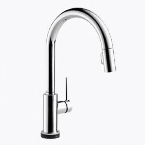 DELTA TRINSIC SINGLE HANDLE PULL-DOWN KITCHEN FAUCET FEATURING TOUCH20 TECHNOLOGY - Chrome