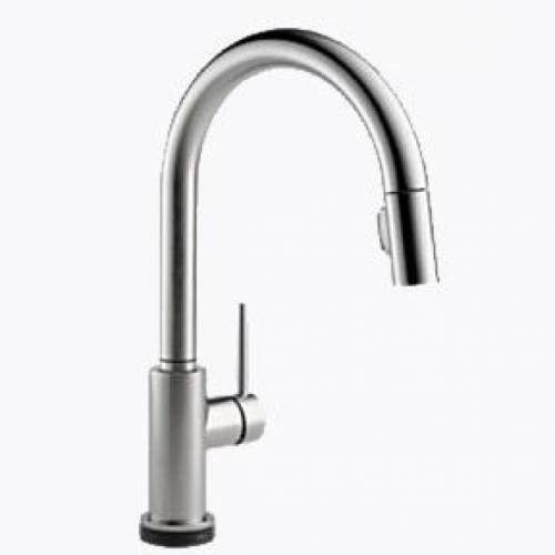 DELTA TRINSIC SINGLE HANDLE PULL-DOWN KITCHEN FAUCET FEATURING TOUCH20 TECHNOLOGY - Stainless