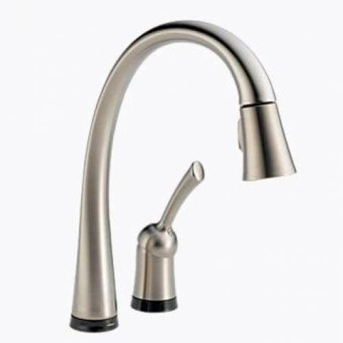 DELTA PILAR SINGLE HANDLE PULL-DOWN KITCHEN FAUCET WITH TOUCH20 - Stainless