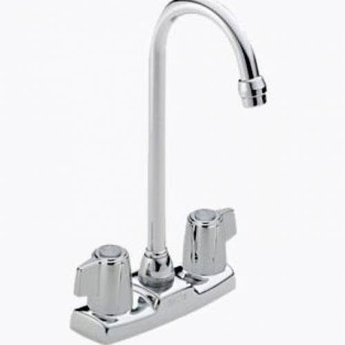 DELTA TWO HANDLE CLASSIC BLADE BAR/PREP FAUCET - Chrome