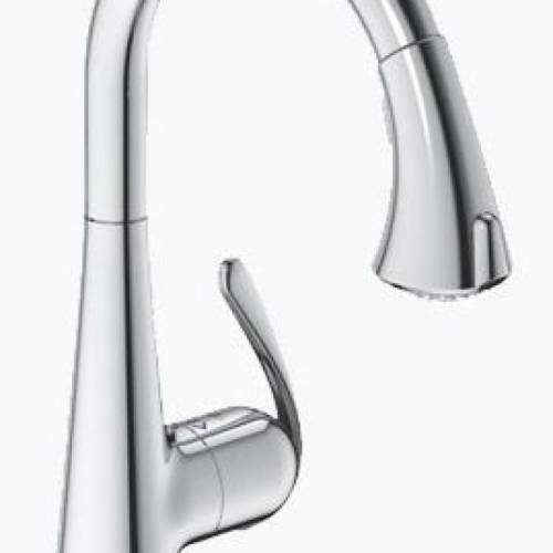 GROHE LADYLUX3 DUAL SPRAY PULL-DOWN KITCHEN FAUCET - Starlight Chrome