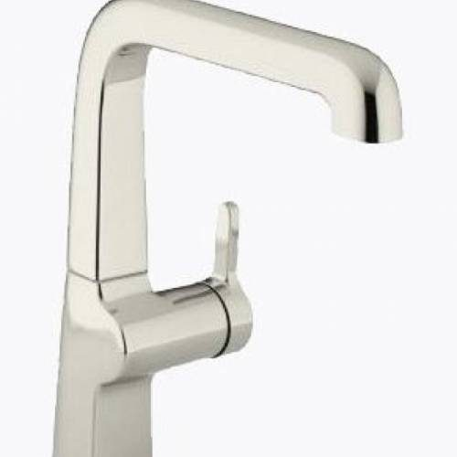 KOHLER EVOKE SINGLE CONTROL KITCHEN FAUCET - Pol. Nickel & Vibrant Stainless