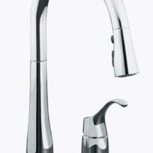 KOHLER SIMPLICE PULL DOWN KITCHEN FAUCET - Chrome