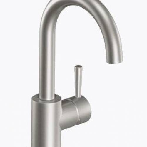 MOEN LEVEL ONE HANDLE HIGH ARC SINGLE MOUNT BAR FAUCET - Classic Stainless