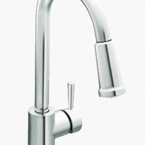 MOEN LEVEL ONE HANDLE HIGH ARC PULL DOWN KITCHEN FAUCET - Chrome
