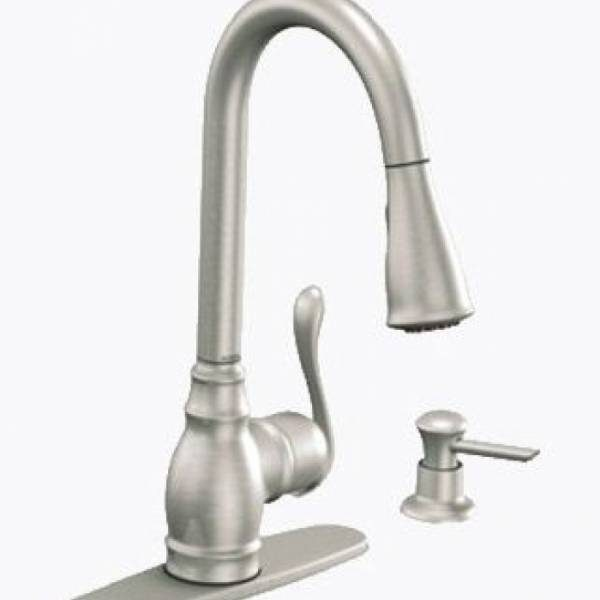 Moen Old Style Clear Replacement Faucet Handle 13092: MOEN ANABELLE ONE HANDLE HIGH ARC PULL DOWN KITCHEN FAUCET