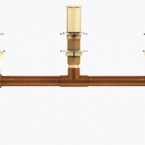 MOEN 4796: TWO HANDLE ROMAN TUB VALVE 10inch CENTER 1/2inch CC CONNECTION