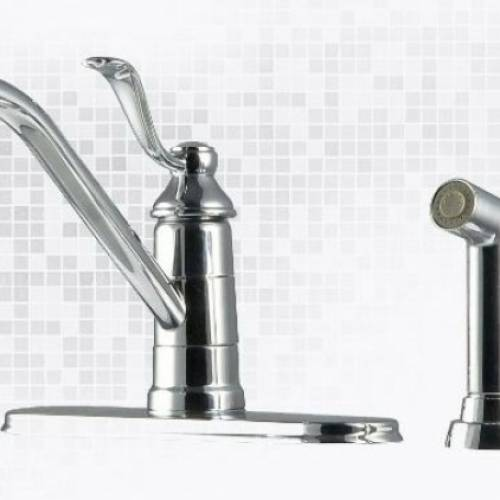 PFISTER PORTLAND 2 OR 4-HOLE SINGLE HANDLE KITCHEN FAUCET - Polished Chrome