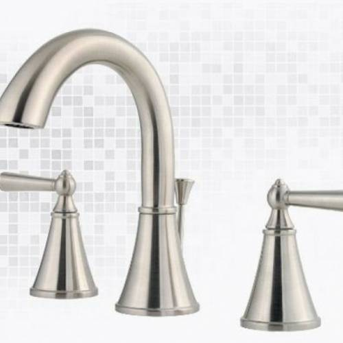 SAXTON 3-HOLE WIDESPREAD LAVATORY FAUCET - Brushed Nickel