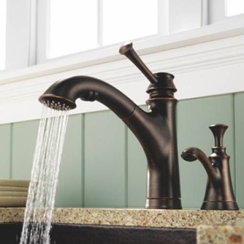BRIZO BALIZA SINGLE HANDLE PULL-OUT KITCHEN FAUCET - Bronze