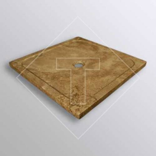 Noce Travertine Shower Base - 36x36