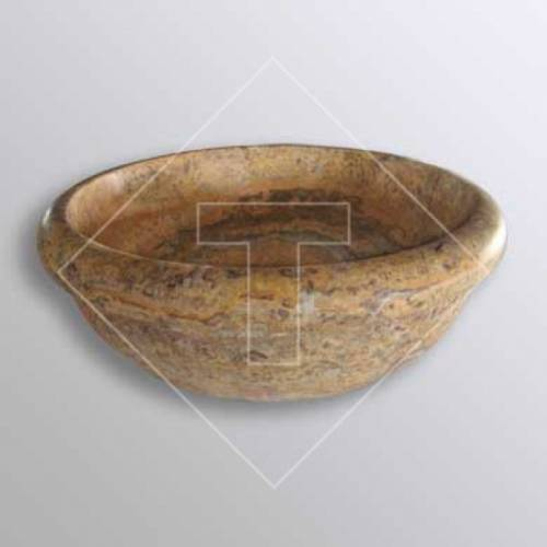 Scabos Travertine Drop-In Sink - 16 inch