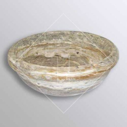 Antik Onyx Travertine Drop-In Sink - 16 inch