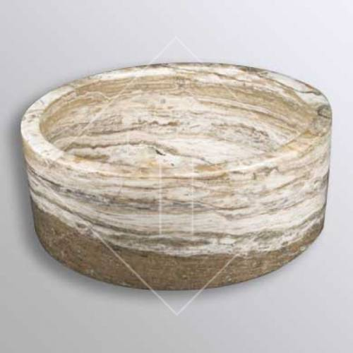 Antik Onyx Travertine Cylinder Sink - 16 inch