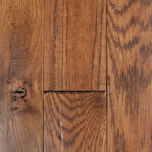 Knob Creek Collection by Mullican Solid 3/4 in. x 3 in. - Oak Coffee